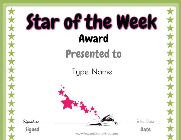 Star Of The Week Student Of The Month Star Of The Week Student Of The Week