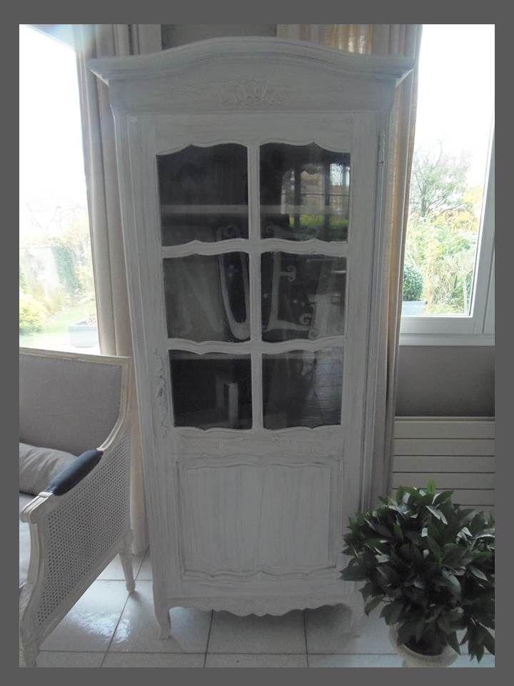biblioth que bonneti re armoire atelierdes4saisons en ch ne patin e gris perle meubles. Black Bedroom Furniture Sets. Home Design Ideas