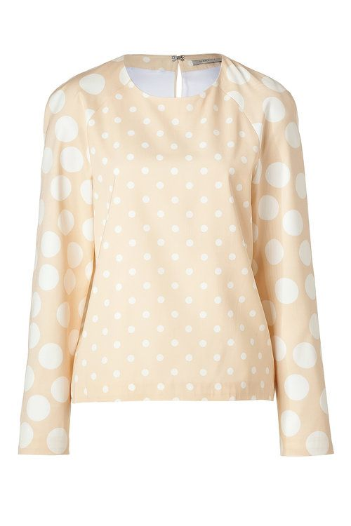 Nude/White Dotted Adonide Top | Hakaan
