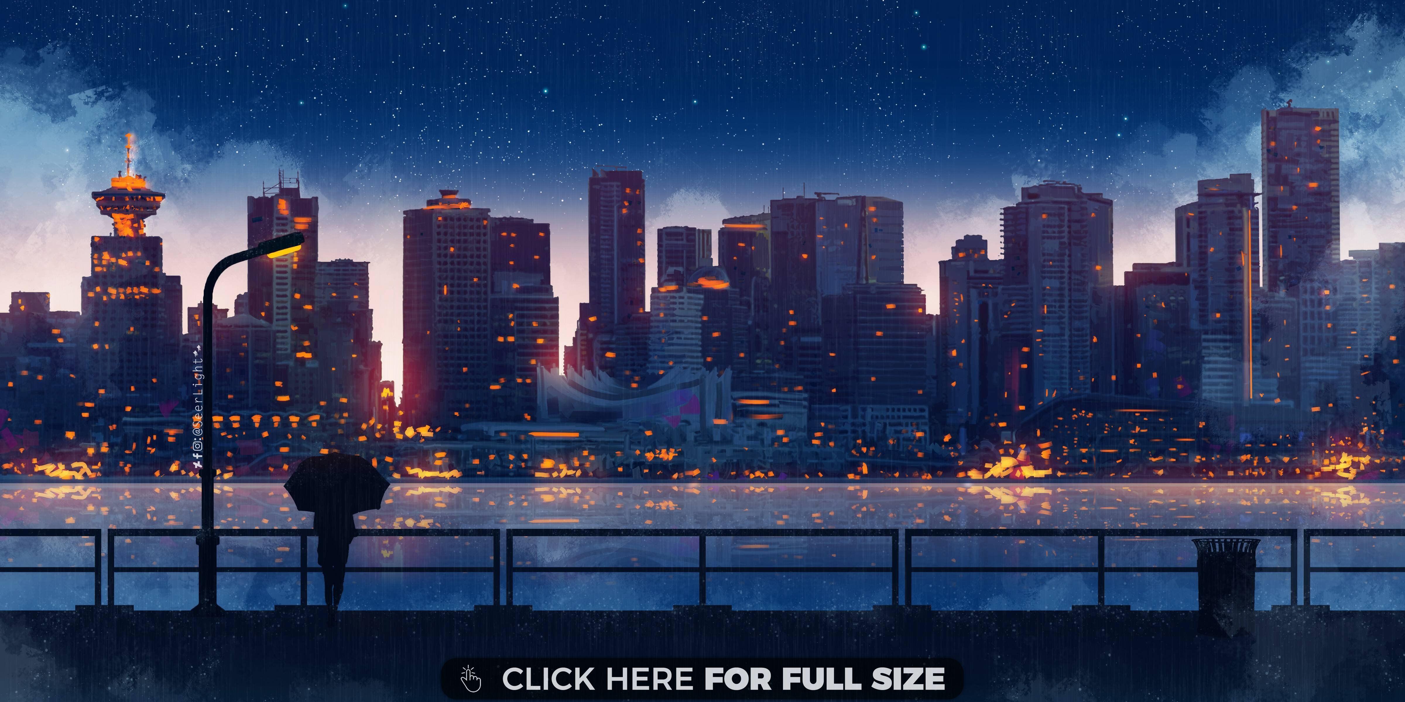 A Rainy Night 4k Wallpaper Cityscape Wallpaper City Wallpaper Anime City Anime city night wallpaper 4k