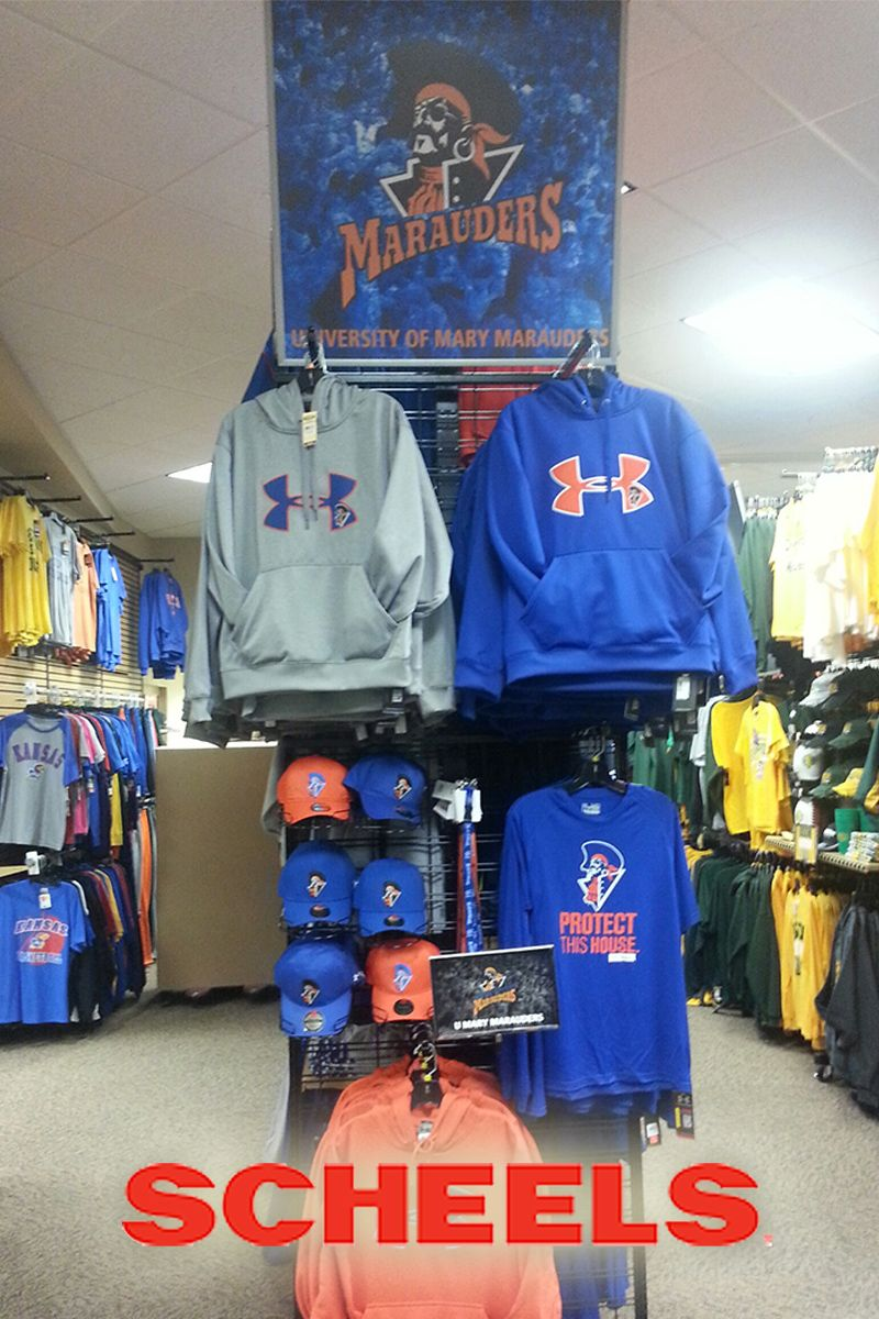 Shop Scheels In Bismarck Nd For Officially Licensed University Of Mary Merchandise Mlb Apparel College Shirts Nfl Gear