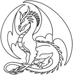 Coloring Page World Sapphire Dragon