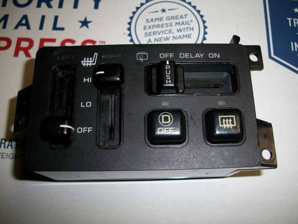 96 97 98 Jeep Grand Cherokee Heated Seat Wiper Rear Defrost Switch