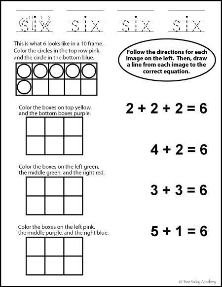 Number Bonds To 6 Free Math Worksheets Free Math Worksheets Free Math Free Math Printables
