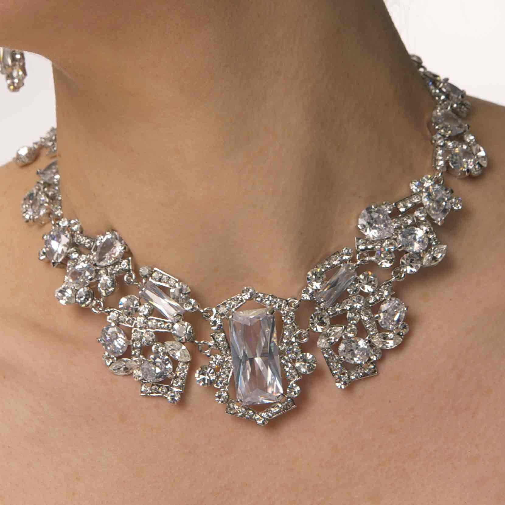 Swarovski crystal jewelry quick overview swarovski crystal swarovski crystal jewelry quick overview swarovski crystal necklace and drop earring set nickel aloadofball Choice Image