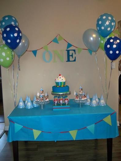Hostess With The Mostess Boys Cupcake First Birthday Simple Birthday Party First Birthdays First Birthday Cupcakes