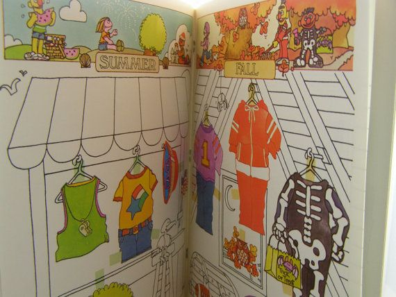 vintage paper doll book Sesame Street Seasons by innerchildbooks
