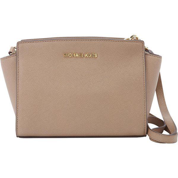 8464c3c40dd2 MICHAEL Michael Kors Selma Medium Messenger Crossbody Bag ( 228) ❤ liked on  Polyvore featuring bags