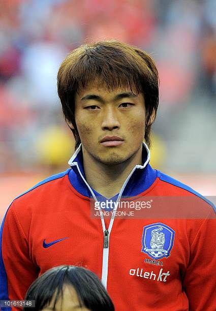 South Korean national football team midfielder Shin HyungMin during a friendly football match with Ecuador in Seoul on May 16 2010 ahead the FIFA...
