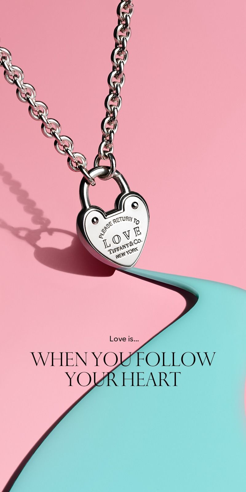 1ebec3087 Love Lock Necklace in 2019 | The Tiffany Valentine's Day Gift Guide ...