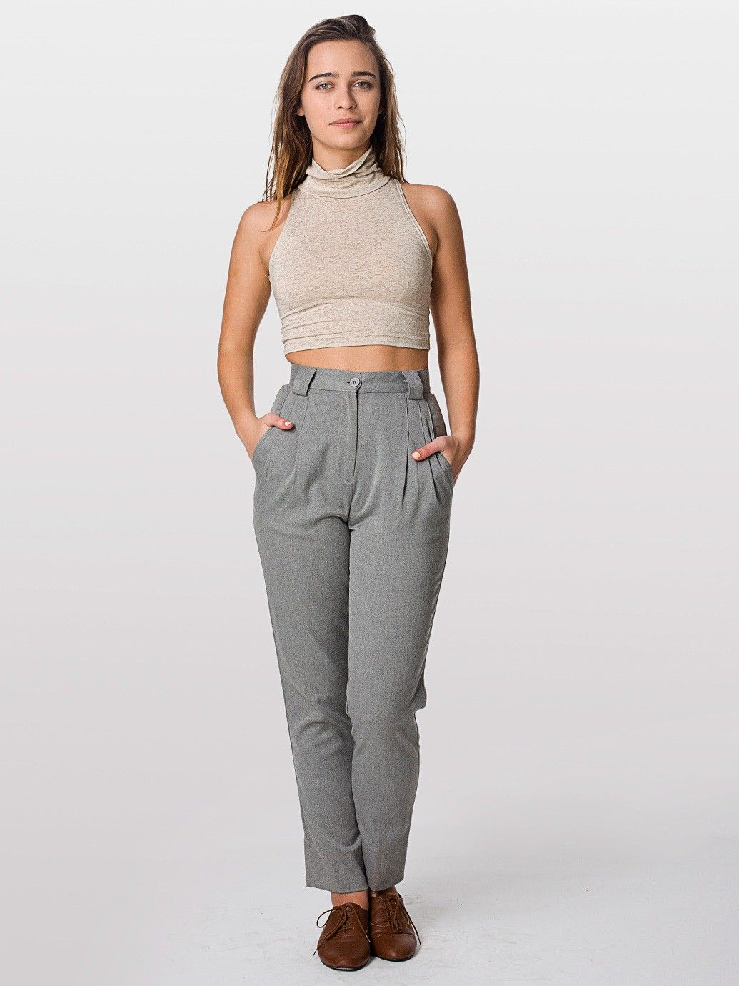 Linen High-Waist Pleated Pant | Women's pants, My name and Linens