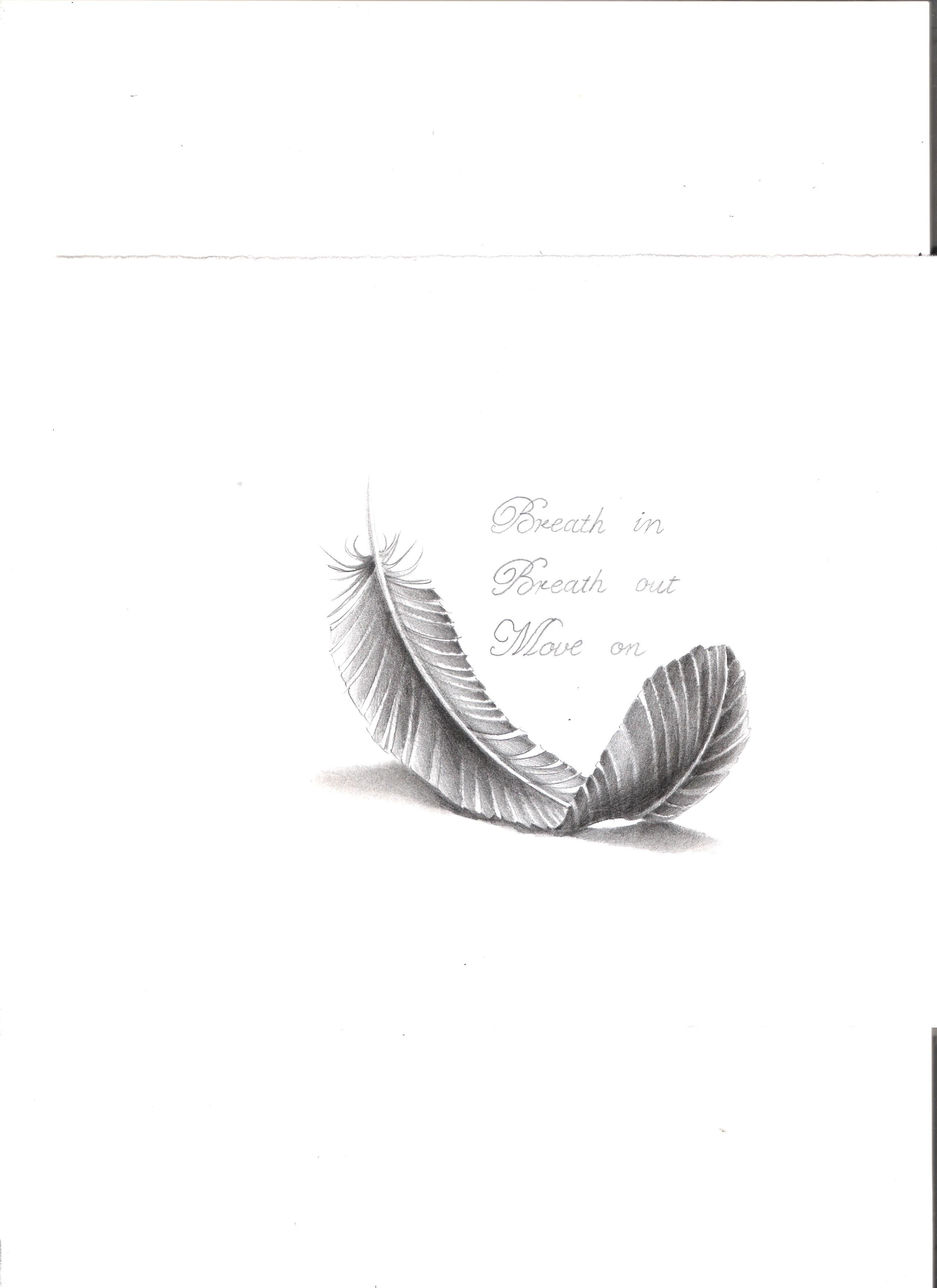 Simple Feather And Quote Black White Quotes White Feather