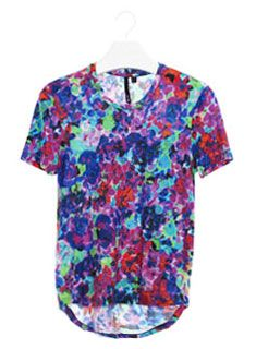 Tux Tee in Psychedelic Floral