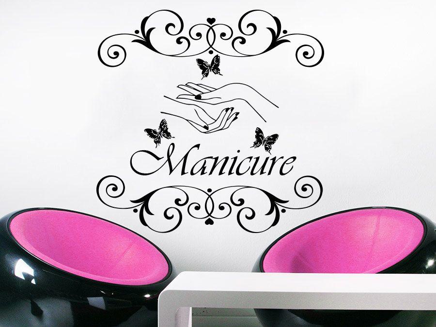 Wall Decal Manicure Vinyl Sticker Decals Beauty Salon Nails Hands - Decoracion-vinilos-salon