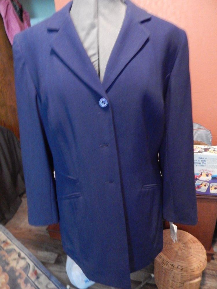 42474799c51 NWT DRESS BARN LONG BLAZER SIZE 14W DARK BLUE W  LIGHT PIN STRIPE  fashion   clothing  shoes  accessories  womensclothing  suitssuitseparates (ebay link)