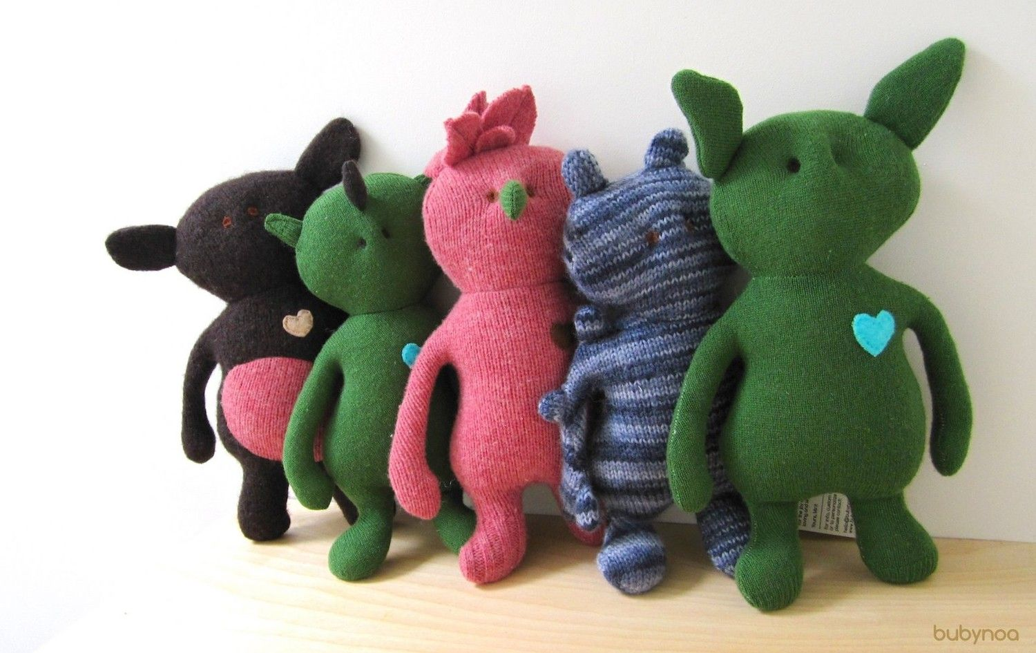 SALE Critter Doll eco friendly upcycled wool sweaters soft green monster OOAK. $35.00 USD, via Etsy.