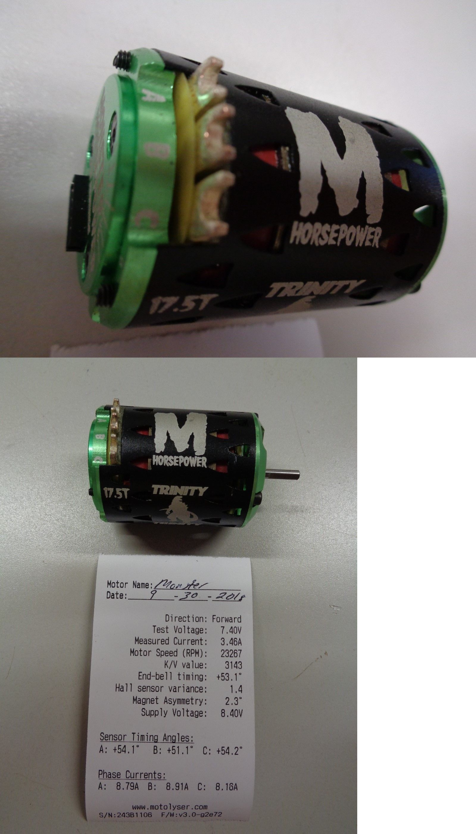 electric motors 100058 new trinity monster 17 5 brushless motor buy it now only 90 on ebay electric motors trinity monster brushless motor [ 1599 x 2799 Pixel ]