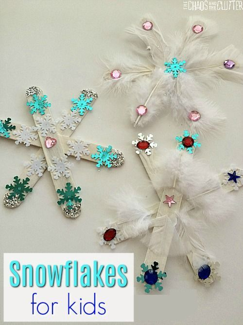Easy Snowflake Craft for Kids to Make