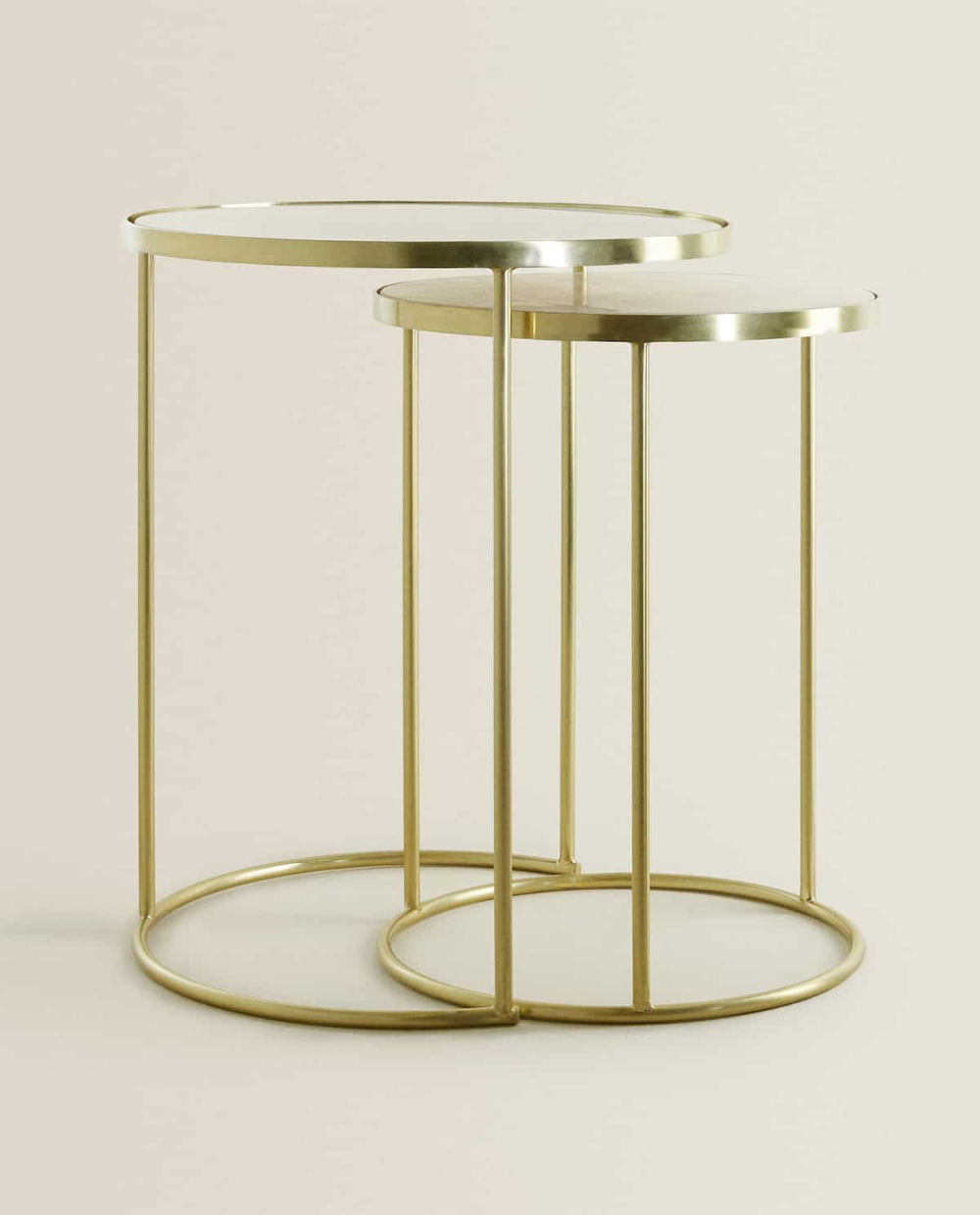 Marmarino Xrysafi Trapezi Zigkon Set Twn 2 In 2020 Gold Side Table Gold Marble Living Room Side Table