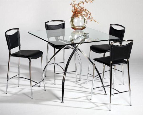 Moderne Esszimmermöbel Ideen barhocker glas esstisch Jantar - moderne esszimmermobel design ideen
