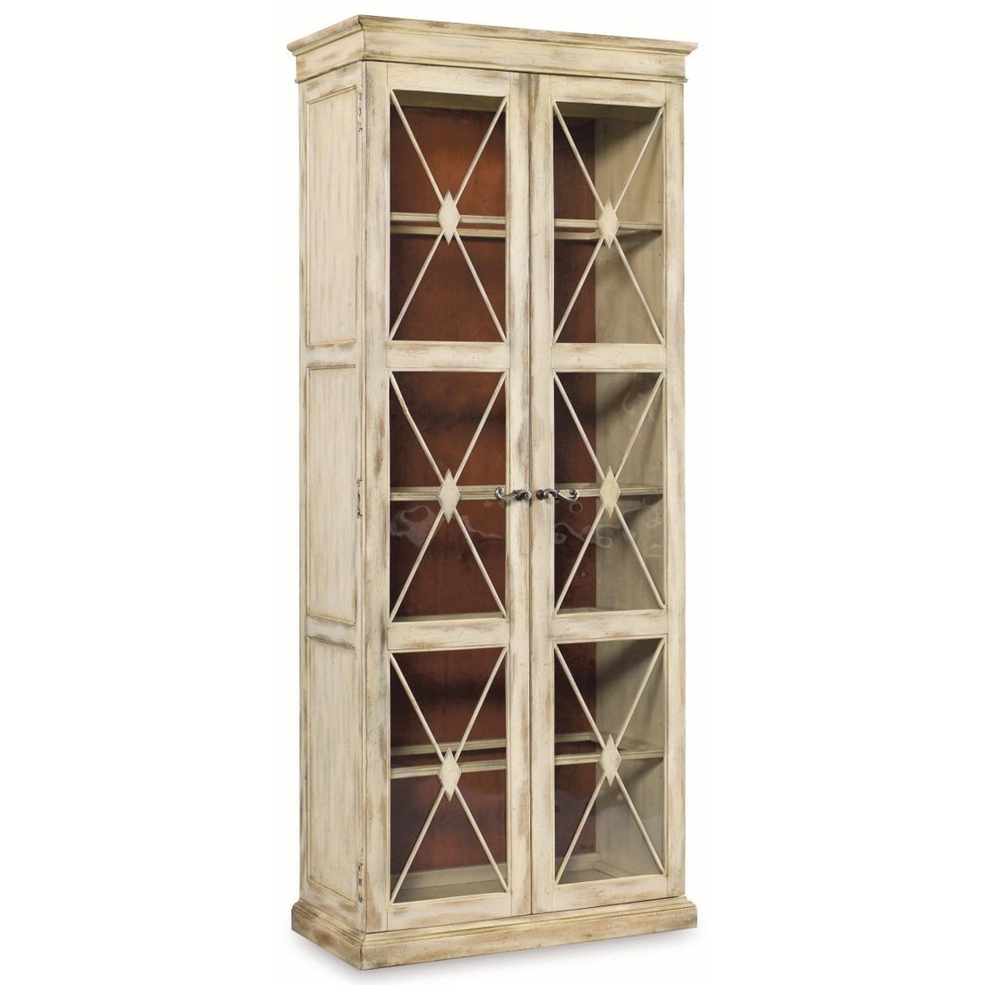 Furniture Sanctuary Two Door Thin Display Cabinet In Dune Tall Storage