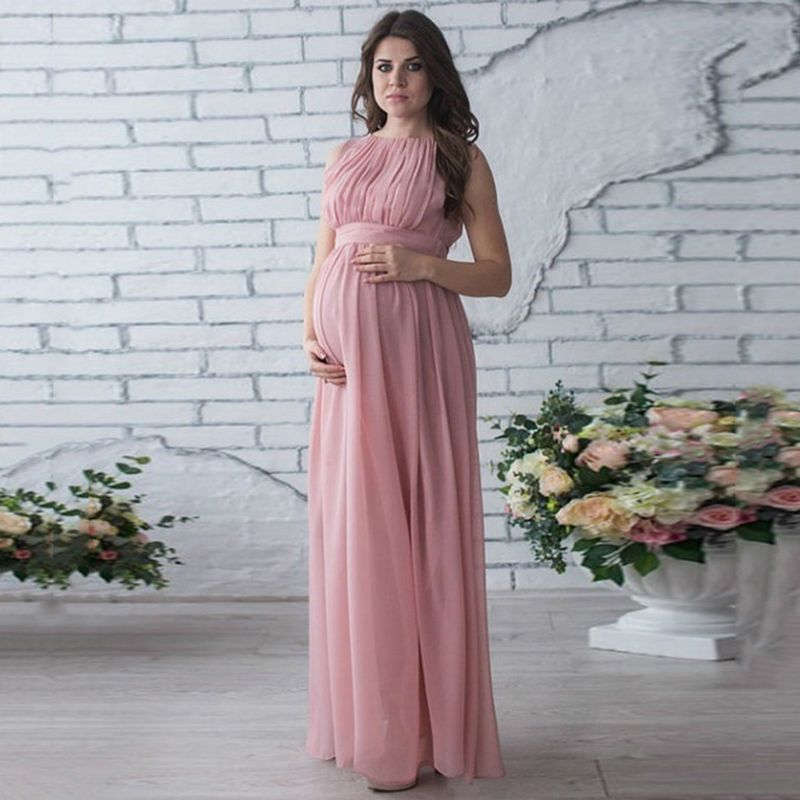 Maternity Dress Autumn Maternity Party Dress Maternity Dress Solid High  Split Design For Graceful Mom Who like it   Get it here 5ed2619988b7