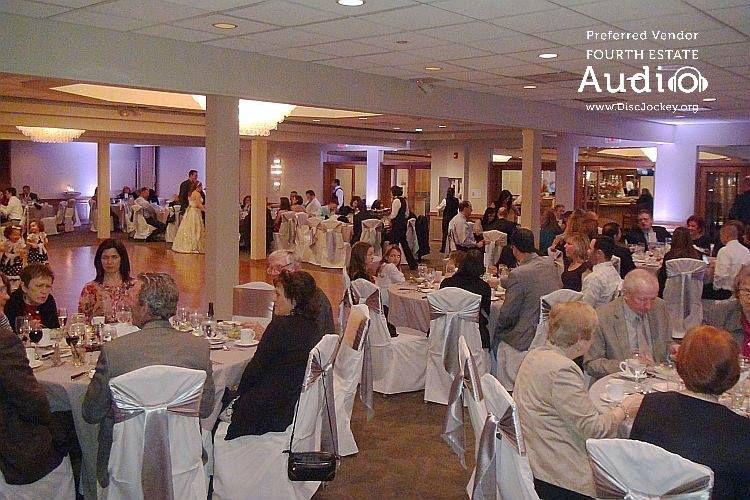 Dinner in the ballroom at Villa Olivia. http://www.discjockey.org/real-chicago-wedding-february-14-2015/