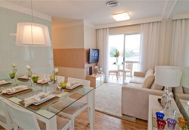 Id ias com fotos apartamento decorado de 50m banheiro for Modelos de apartamentos pequenos modernos