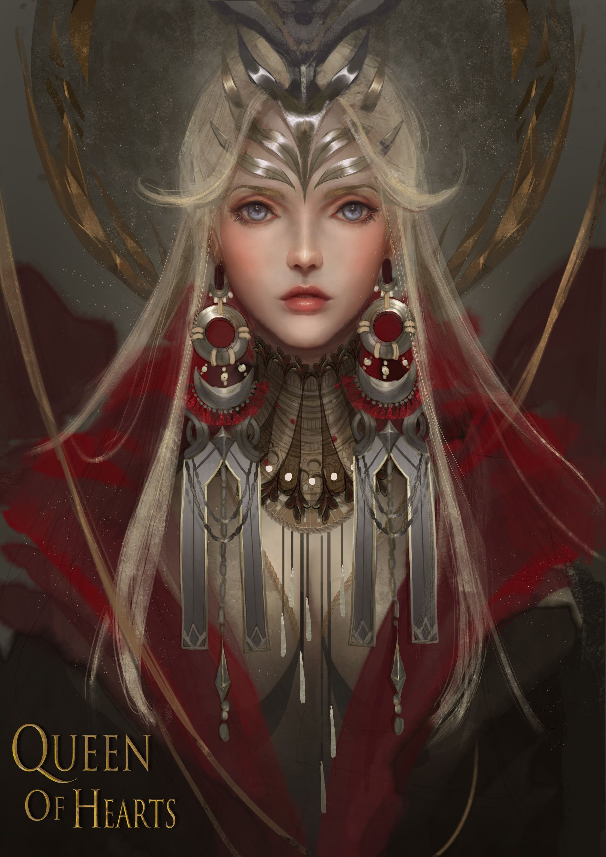 Artstation Queen Of Hearts Yan Chuan Fantasy Art Women