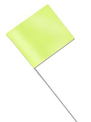 Stake Flags - Fluorescent Lime - Min  Order of 2 by Uline