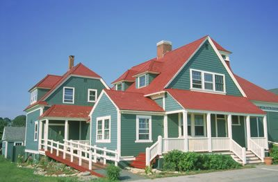 March Upba Newsletter Red Roof House House Exterior Blue Green House Exterior