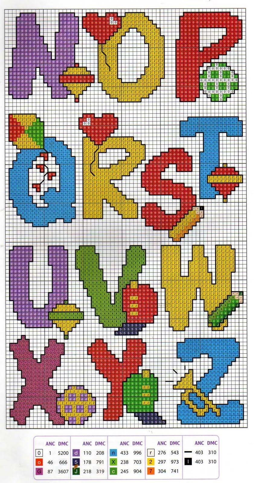 Ponto cruz. Cross stitch