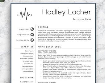 Nurse Resume Template, Nurse Resume, Professional Nurse Resume Template,  Professional Nurse CV,  Medical Resume