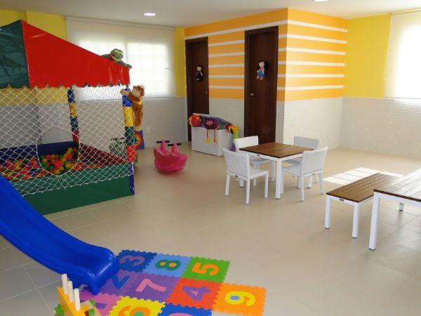 O salão de festas infantil já está pronto para a criançada