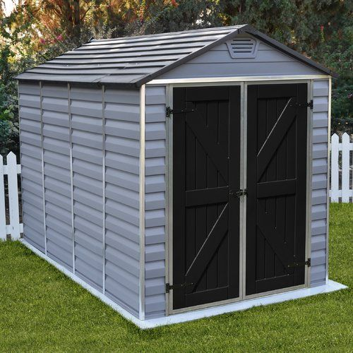 SkyLight™ 6 ft. 1 in. W x 10 ft. D Plastic Storage Shed | Plastic storage Storage and DIY storage & SkyLight™ 6 ft. 1 in. W x 10 ft. D Plastic Storage Shed | Plastic ...