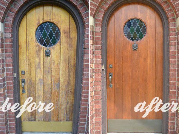 Refinishing My 81 Year Old Front Door Doors Wood Front Doors And