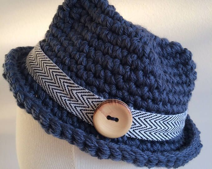 PDF Crochet Pattern Classic Fedora | Bebé recién nacido, Recién ...