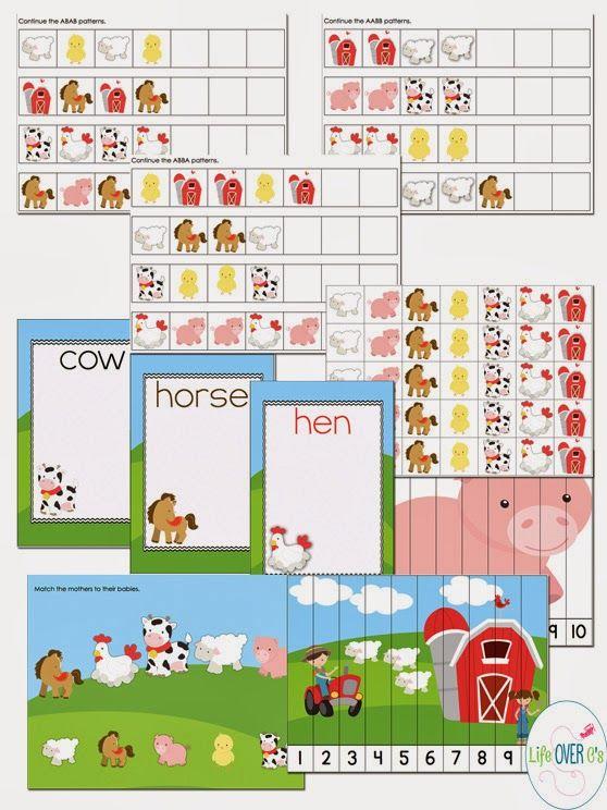 Interactive Farm Scenery For Play Dough Bonus Free Puzzles Slp