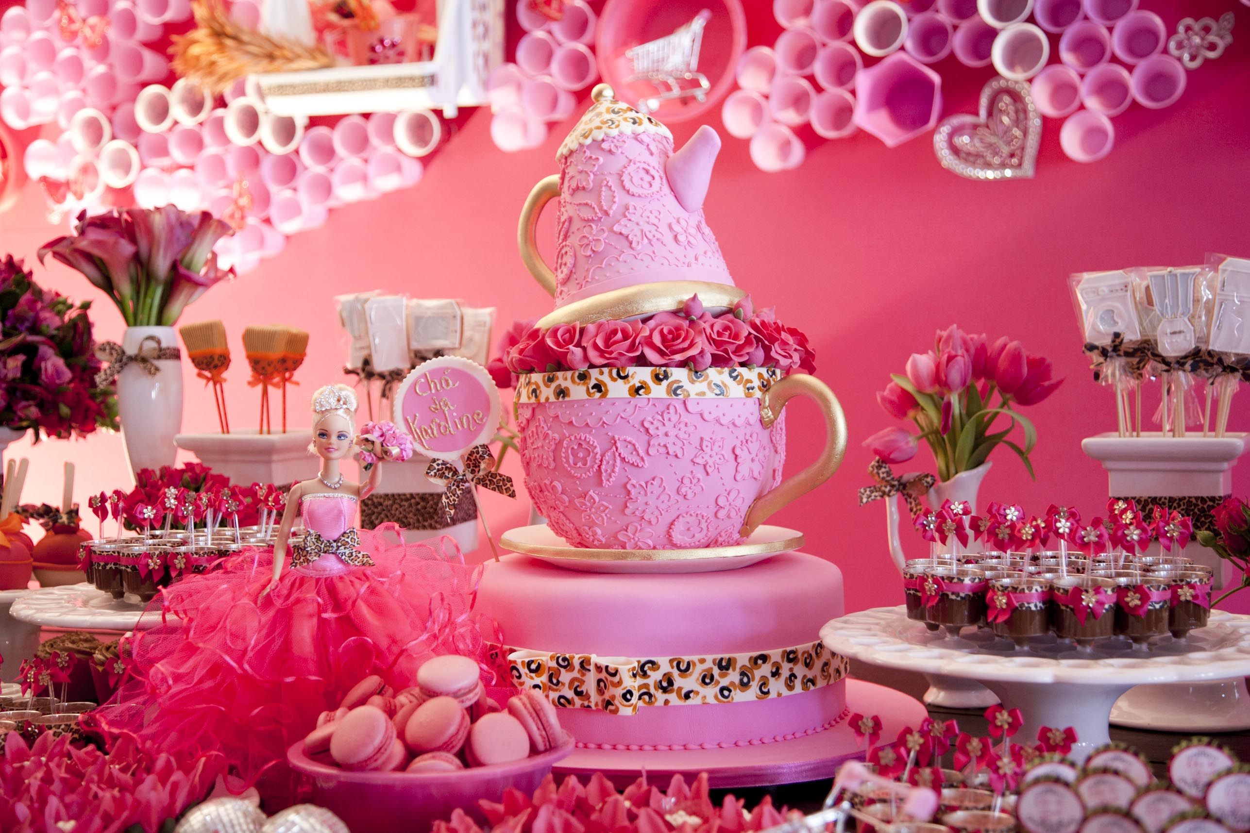 Tea Party Cake Legal Para Ch De Panela Tamb M Cake