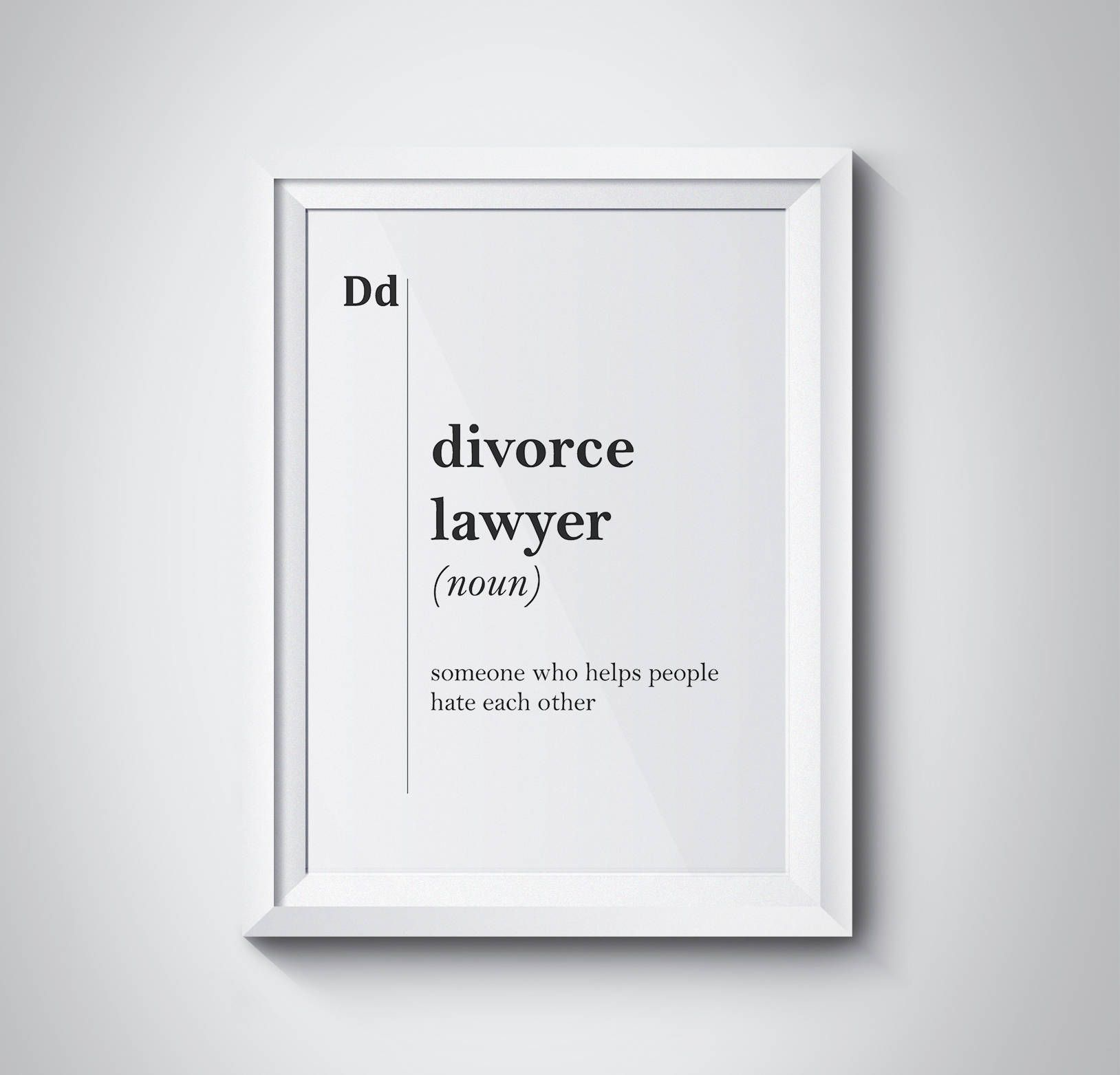 Divorce Lawyer Definition Lawyer Gift Office Decor Attorney Gift