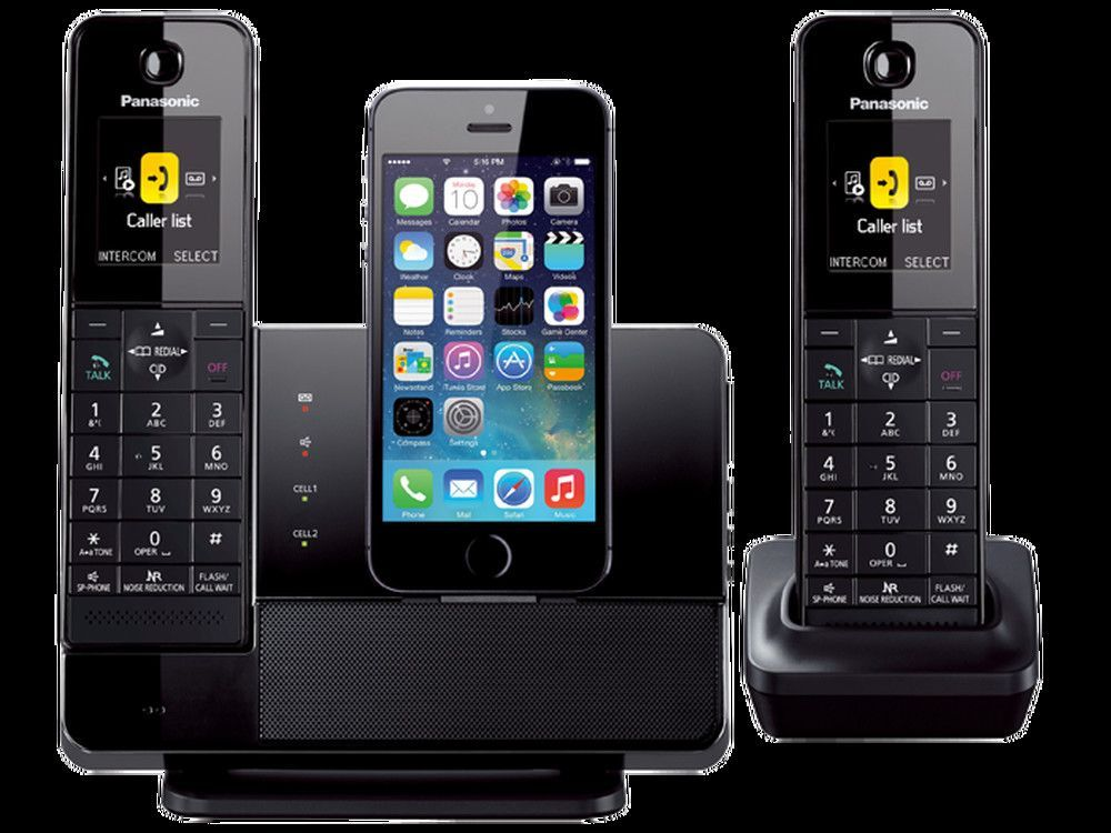 online store 3c54b bb6fe Panasonic Dect 6.0 Plus Link2cell® Bluetooth® Dock Style System with ...