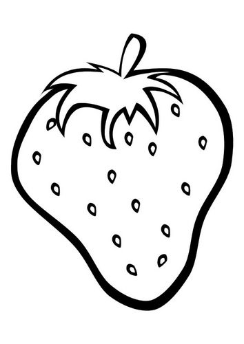 Coloring Page Strawberry Kleurplaten Knutselen Thema Eten