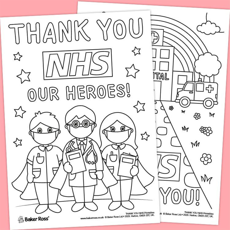 Thank You Nhs Portrait Posters Free Craft Ideas Baker Ross In 2020 Craft Free Printables Free Kids Nhs