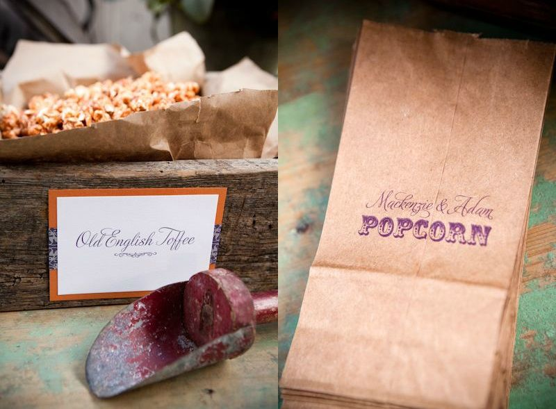 toffee popcorn: how easy & fun!  could serve in paper cones, too.