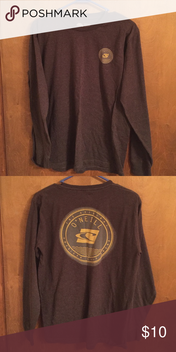 Men's medium O'Neill long sleeve gray Large logo on back, worn but excellent condition O'Neill Shirts Tees - Long Sleeve