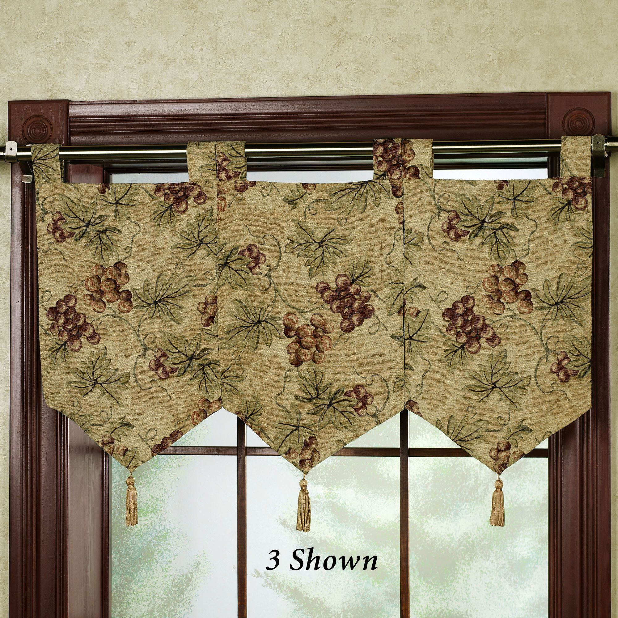 floral jubilee empire valance light cream 110 x 28 bedspreads