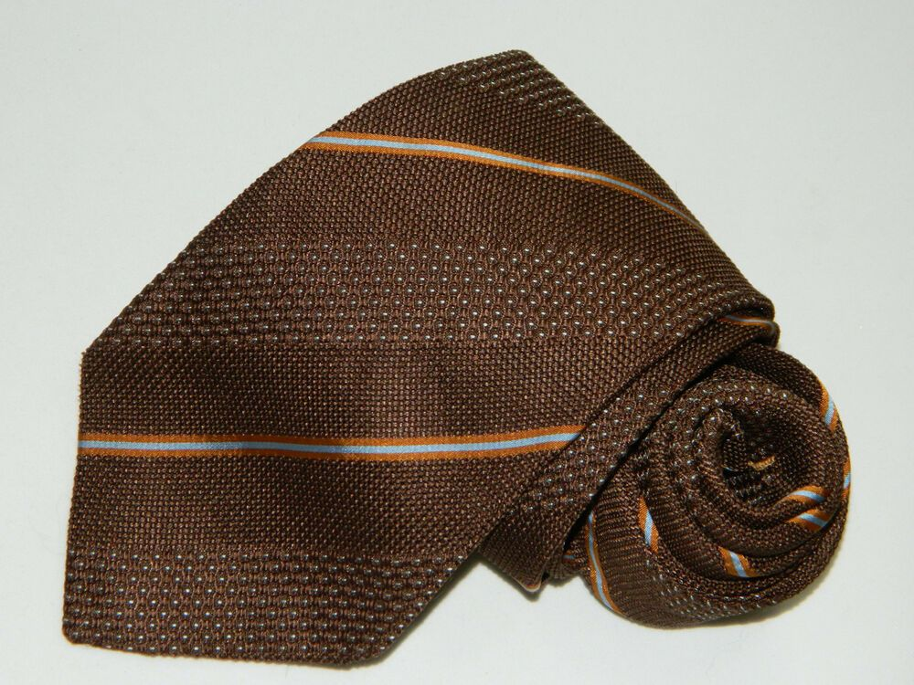 8cae4fac Men's Ermenegildo Zegna Grenadine Brown Silk Neck tie Italy #fashion ...