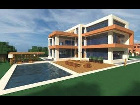 Best Modern House minecraft: how to build a modern house / best modern house 2013