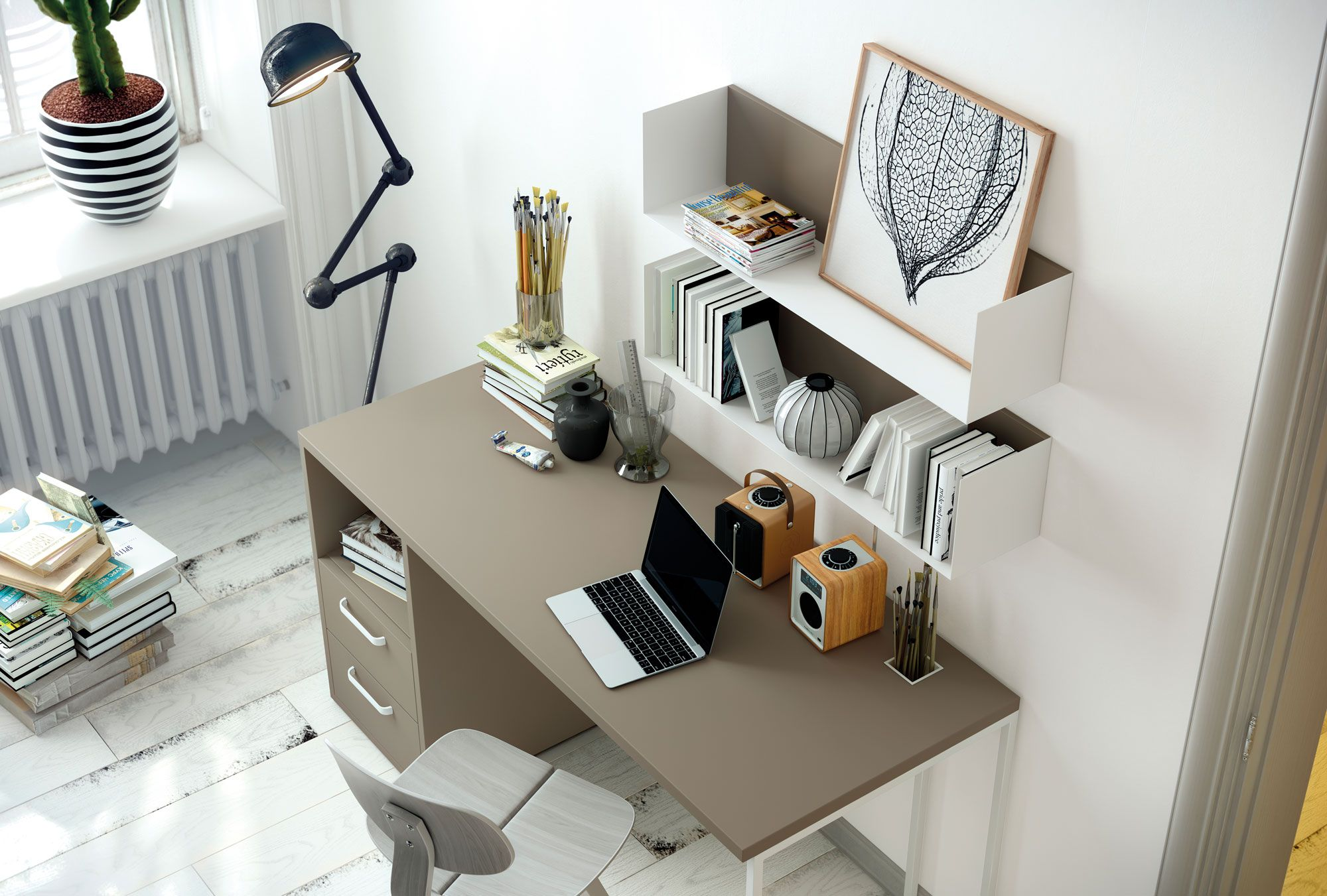 Muebles Lacados Gaete - Habitaci N Juvenil Con Mesa De Estudio Detalle De Estantes [mjhdah]https://i.pinimg.com/736x/59/ef/63/59ef636025301acd7e5f3d7a792f0149.jpg