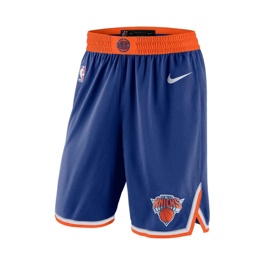 d940bca2b81 New York Knicks Icon Edition Swingman Men s Nike NBA Shorts Size M (Rush  Blue)